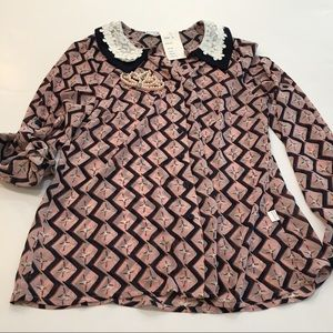 NWT Something Pretty Collection blouse SZ L